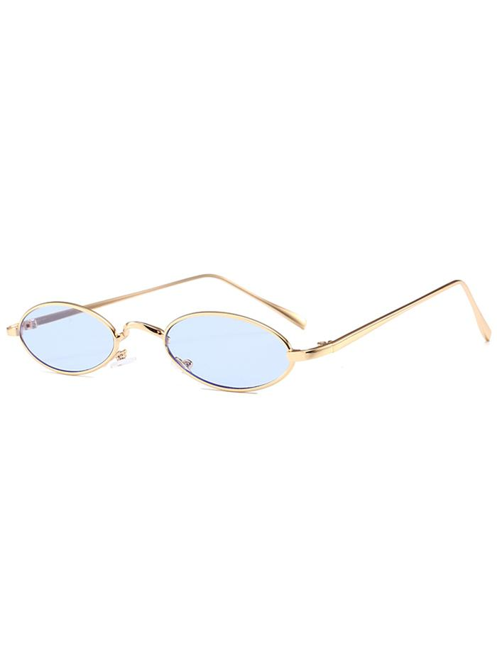 Unique Metal Full Frame Oval Sunglasses