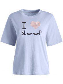 أنا أحب النوم المطرزة الجرافيك المحملة - [