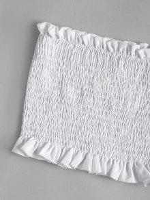 Superior Blanco Parcheada Atada Con Parte S Floral Cuadros Adornada Fvx0qWwdX