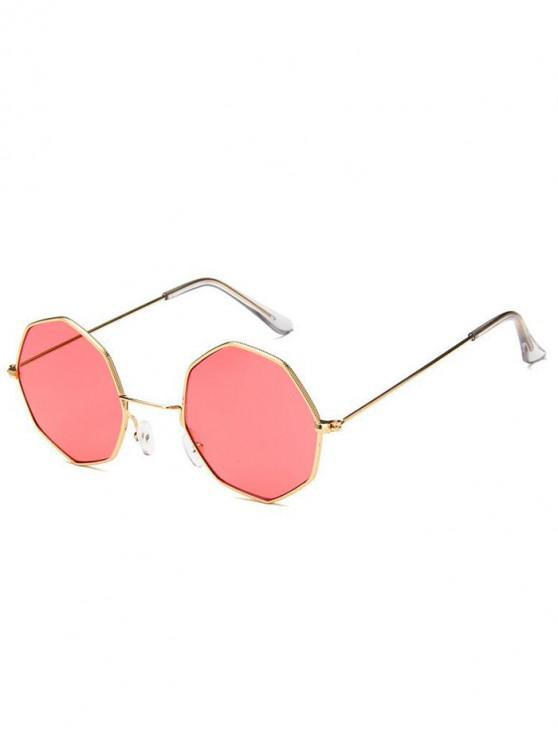shops Geometric Metal Sunglasses - WATERMELON PINK