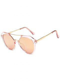 Travel Geometric Sunglasses - Light Pink