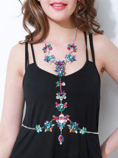Sparkly Rhinestone Faux Crystal Body Chain - Multi