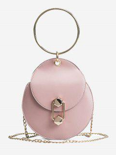 Chic Top Handle Handbag With Chain - Pink