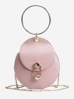 Chic Top Handle Handbag With Chain - Pink