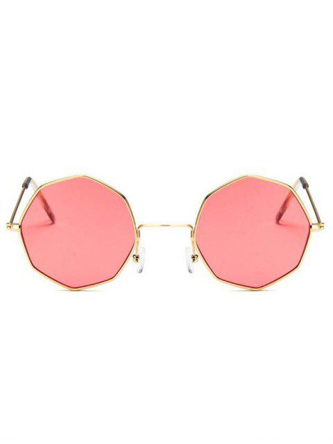 shops Geometric Metal Sunglasses - WATERMELON PINK  Mobile