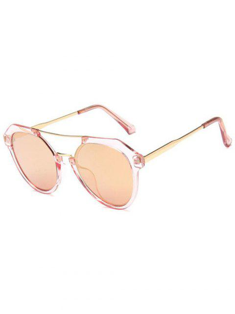 ladies Travel Geometric Sunglasses - LIGHT PINK  Mobile