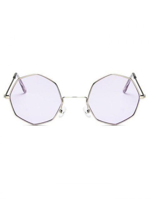 affordable Geometric Metal Sunglasses - LAVENDER BLUE  Mobile