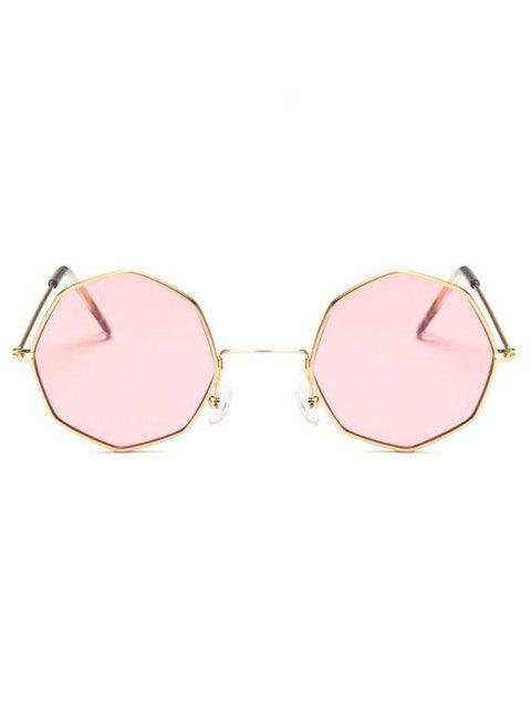trendy Geometric Metal Sunglasses - LIGHT PINK  Mobile