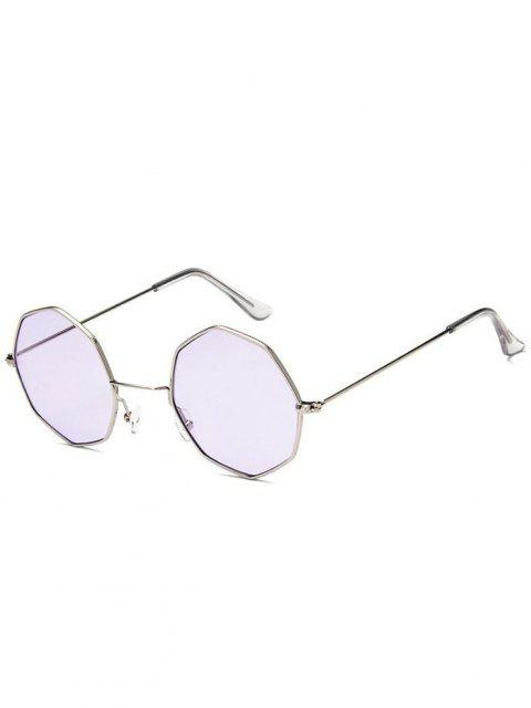 affordable Geometric Metal Sunglasses - LAVENDER BLUE  Mobile