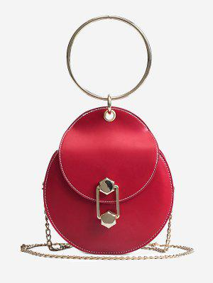 Chic Top Handle Handbag with Chain