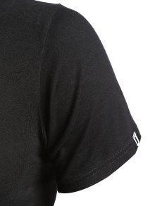 Negro Manga Miami Camiseta Corta M 6xtn7aU