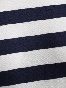 Pizarra A 237;dos M Con De Camiseta Azul Hombros Rayas Ca Oscuro 8vXqd