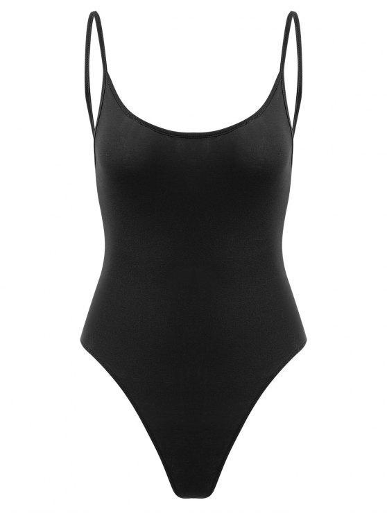 Botón de presión Open Back Bodysuit - Negro S
