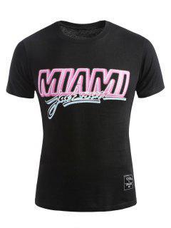 Short Sleeve Miami T-shirt - Black Xl