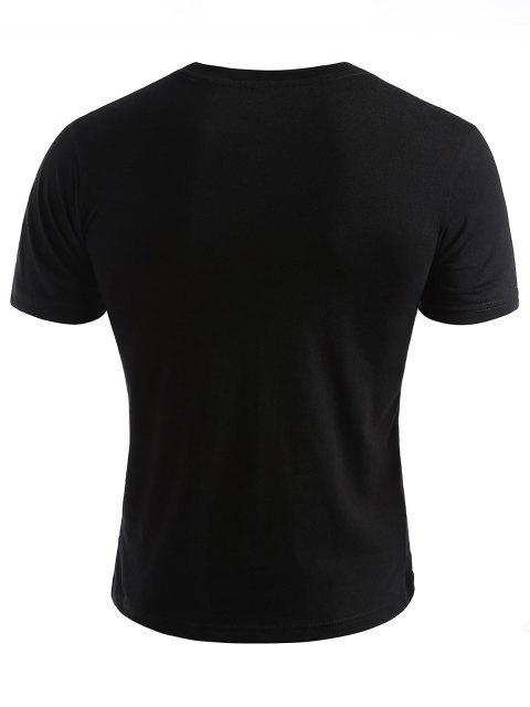 Smiled Face Photos camiseta de verano - Negro 2XL Mobile