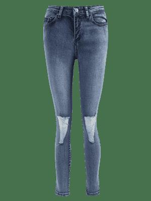 Dünne Ausgefranste Jeans