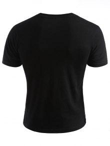 Face Photos Camiseta Smiled Verano De Negro M dwzcgqZn