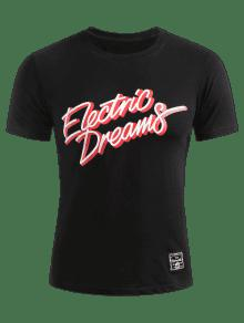 Camiseta Electric Dreams Electric M Dreams Negro Camiseta Negro Rq6Pwqx