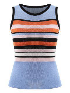 Bold Striped Knit Tank Top - Multi