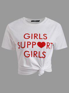 T-shirt Col Rond Imprimé - Blanc S