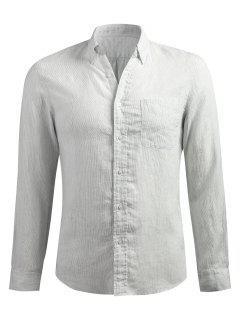 Long Sleeve Slender Stripe Shirt - Platinum Xl