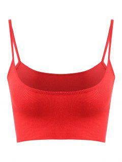 Plain Bralette Tank Top - Fire Engine Red S