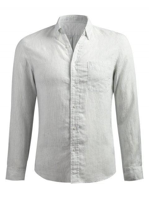 Langarm Dünne Streifen Shirt - Platin M Mobile