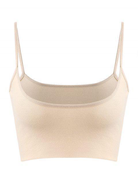 Plain Bralette sin mangas - Blanco Antiguo M Mobile