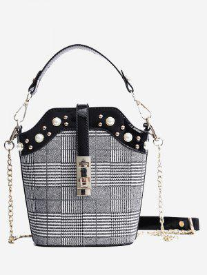 Studded Color Blocking Crossbody Bag