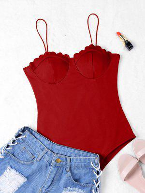 Scalloped Push Up Bodysuit