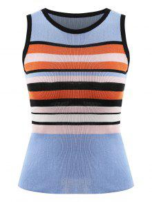 Bold Striped Knit تانك توب - [