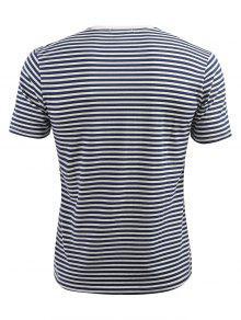 Camiseta Rayas 3xl A De Corta De Azul Manga Oscuro Pizarra PSrP6pWq