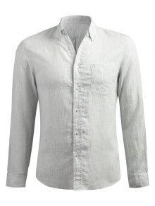 قميص طويل الأكمام مائل - [