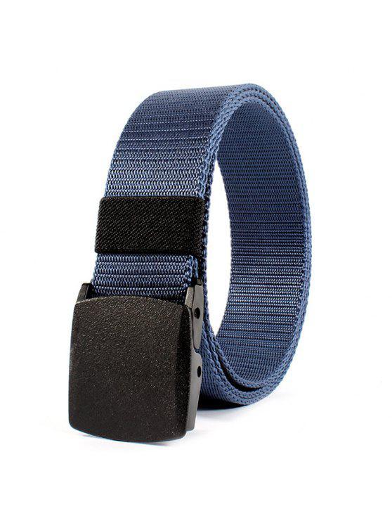 Cinto de Fivela Metálica Embelazada de Lona - Azul
