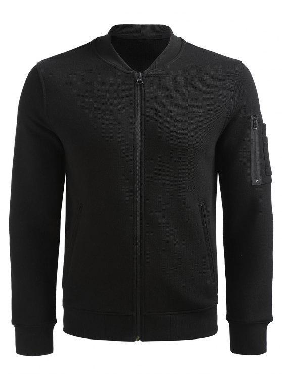 women's Zip Up Jacket - BLACK L