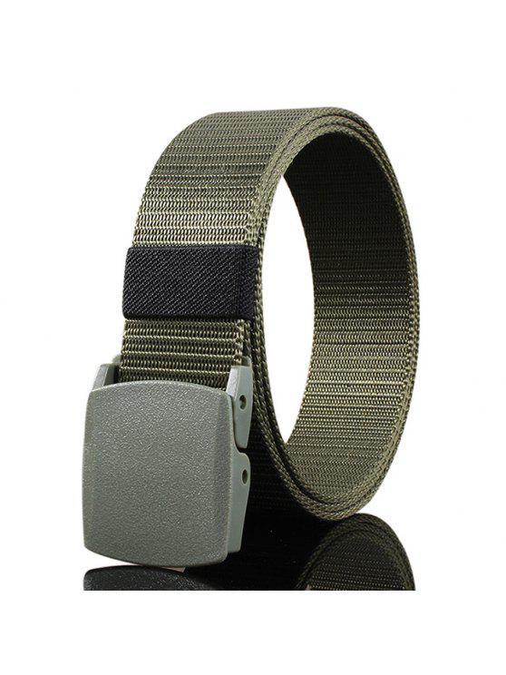 Cinturón de Lona Embellecida con Hebilla Metálica - Verde del ejército