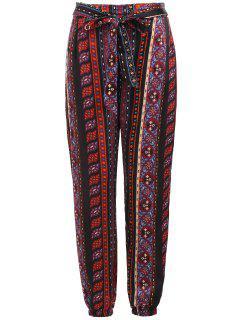 Pantalon De Cravate D'impression Tribale - Multi M