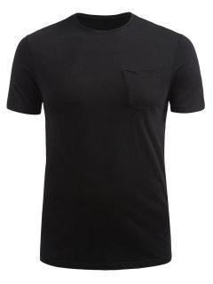 Front Pocket Short Sleeve T-shirt - Black Xl