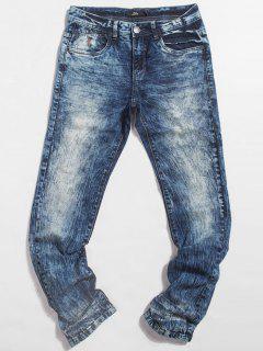 Light Wash Pocket Jeans - Blue 34