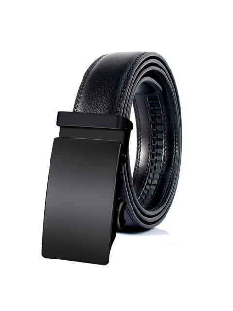 Cinturón Retro de Cuero de Imitación con Hebilla Automática - Negro 130cm Mobile