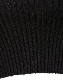 Sin Camiseta Negro Acanalada Hombros Camiseta Acanalada Sin wIxSqT5T