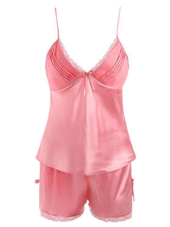 new Sleepwear Satin Camisole Set - WATERMELON PINK 3XL