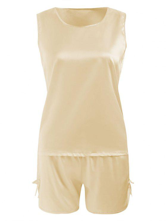 outfit Comfy Satin Sleepwear Set - CHAMPAGNE 2XL