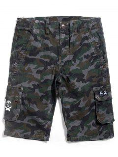 Pantalones Cortos Con Cremallera Recta De Camuflaje De Camo - Acu Camouflaje 38