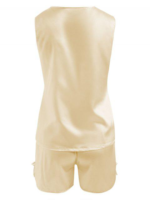 outfit Comfy Satin Sleepwear Set - CHAMPAGNE 2XL Mobile