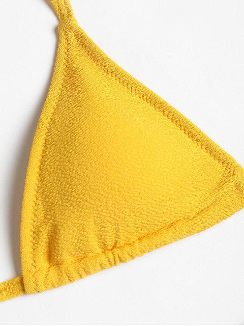 Conjunto de bikini de cadena texturizada - Amarillo S Mobile