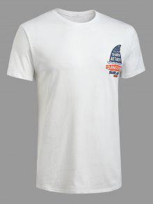 Estampada De Camiseta 2xl Corta Blanco Manga dYvdSAwxq