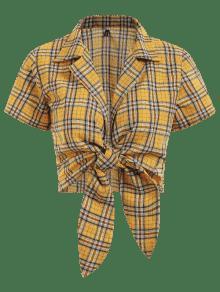 Cuadros A Corto S Cuadros Amarillo Con Top Brillante qEt4xpBE