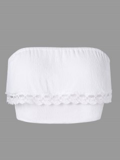 Débardeur En Layered Lace Trim Tube - Blanc Xl