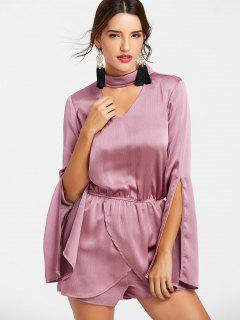Stain Choker Romper - Pink Xl
